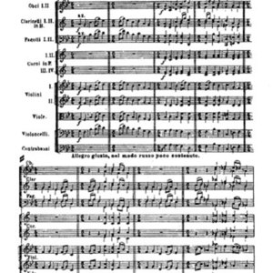 Score for Pictures at an Exhibition by Mussorgsky
